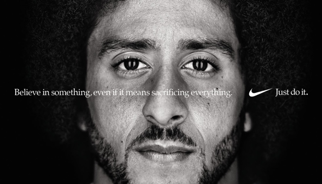 Colin Kaepernick, former NFL quarterback, was let go from the league for kneeling to protest police brutality.