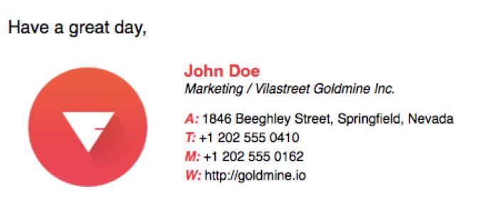 email signature color scheme brand logo