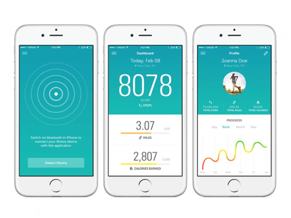 consistent app design example