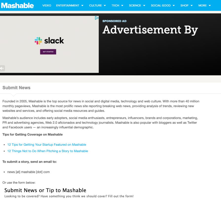 mashable brand exposure