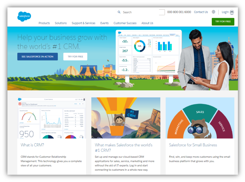 salesforce helps businesses manage contacts