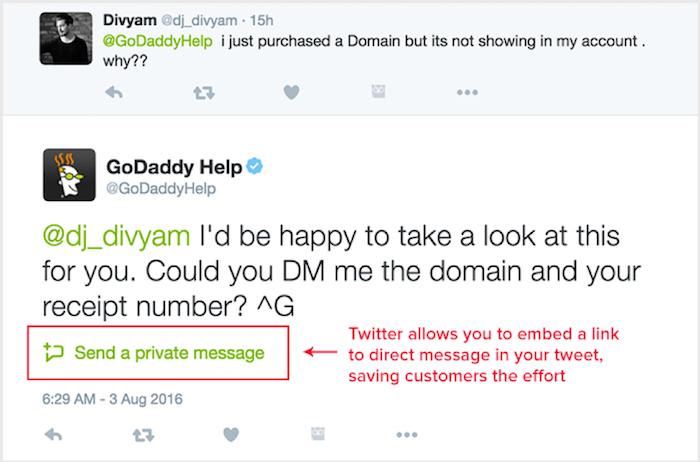 GoDaddy Twitter response