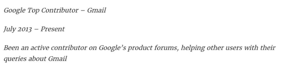 Google Top Contributor