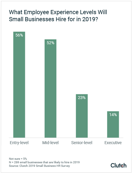What Employee Experience Level will Small Businesses Hire for in 2019?