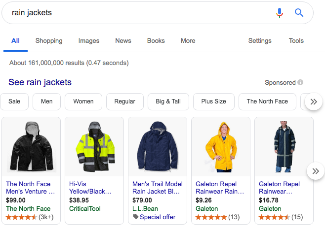Horizontal Google Shopping Ad