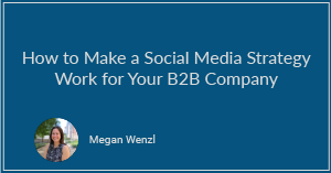 How to Make a Social Media Strategy Work for Your B2B Company