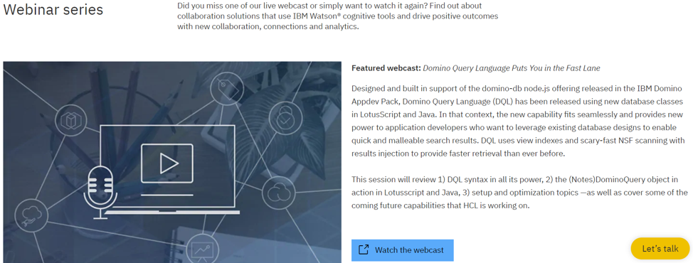 IBM webinar series