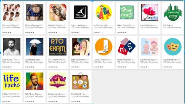 Apps with 10 million downloads