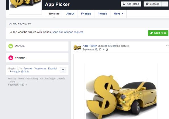 App Picker Facebook Page