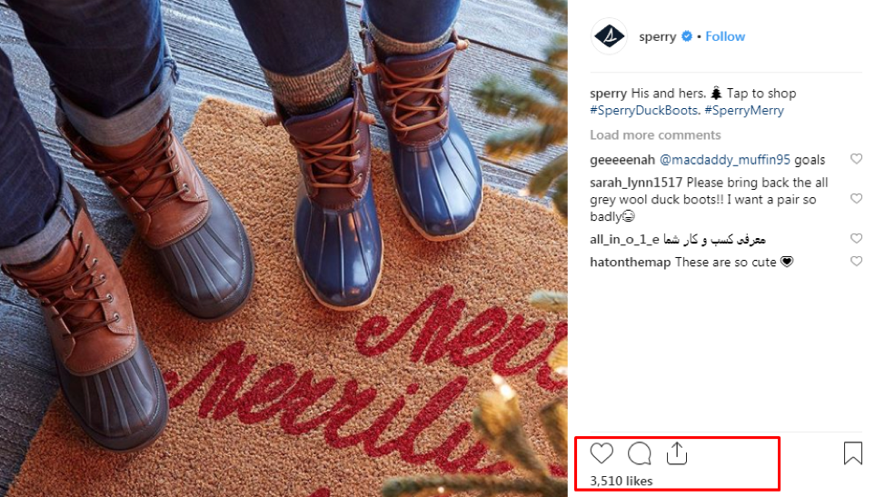 Sperry works with micro-influencers on social media who are fans of the brand to promote their product to a wider audience