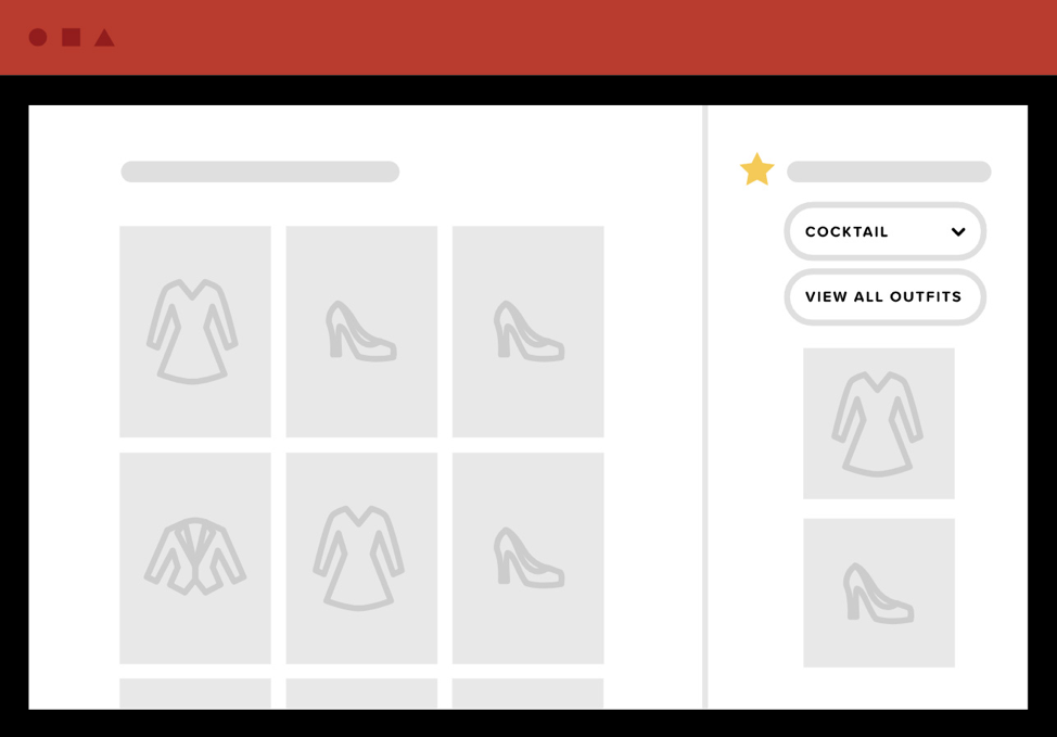 To ensure shoppers don't forget about their wishlist while shopping, e-commerce businesses can overlay the wishlist on the search experience so the shopper can see it while shopping.