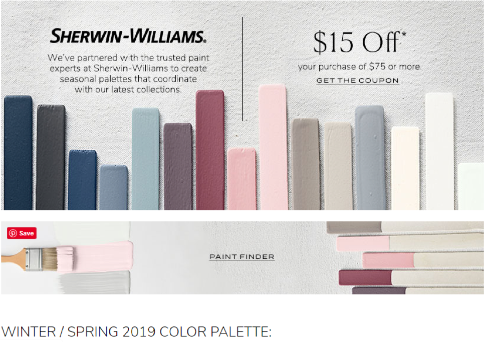 Local partnerships, such as the one between Pottery Barn and Sherwin Williams, build relationships between businesses