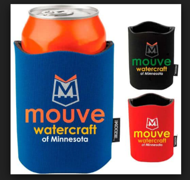 Advertising on physical products, such as koozies, is a great way to build brand awareness