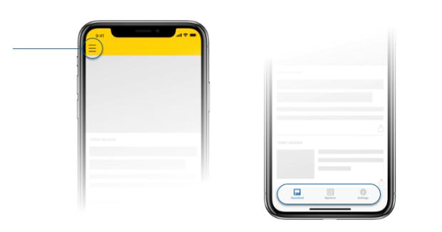 Postmedia app tabs
