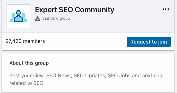 Linked in SEO Expert Group