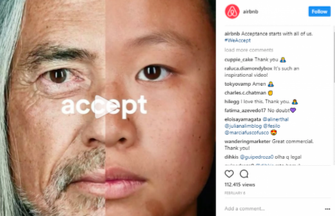 Airbnb uses social media for its diversity campaign.
