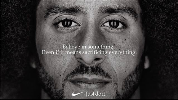 "Former NFL Quarterback Colin Kaepernick was the narrator in Nike's 2018 ""Dream Crazy"" campaign"