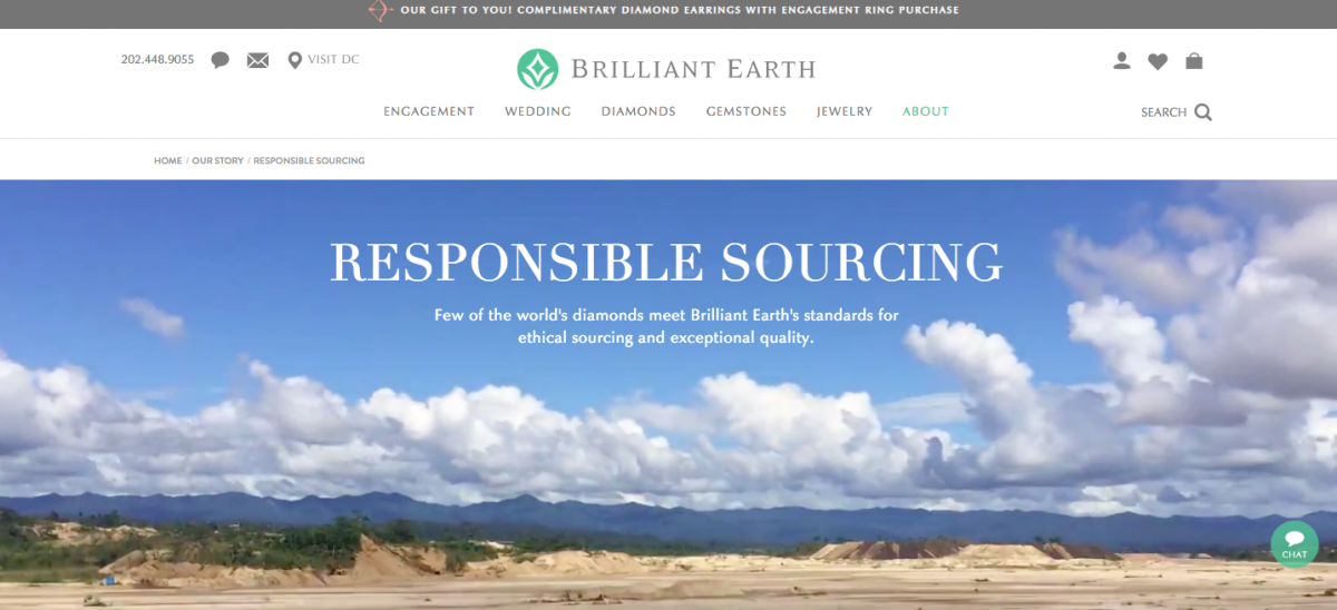 Brilliant Earth sells ethically-sourced diamonds.