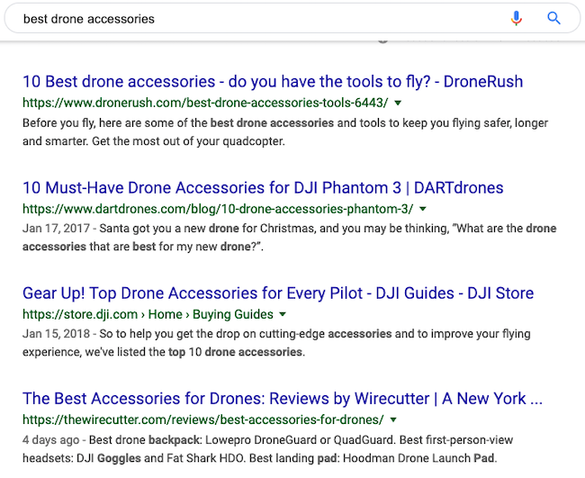 Best Drone Accessories SERP