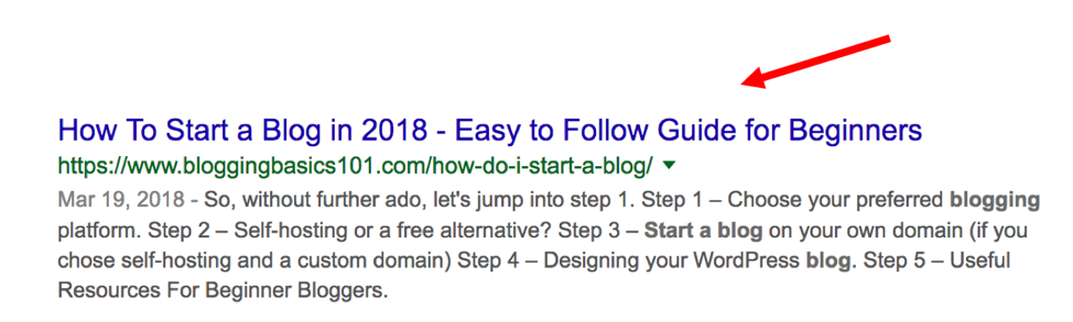 Title tags determine what shows up in search results.