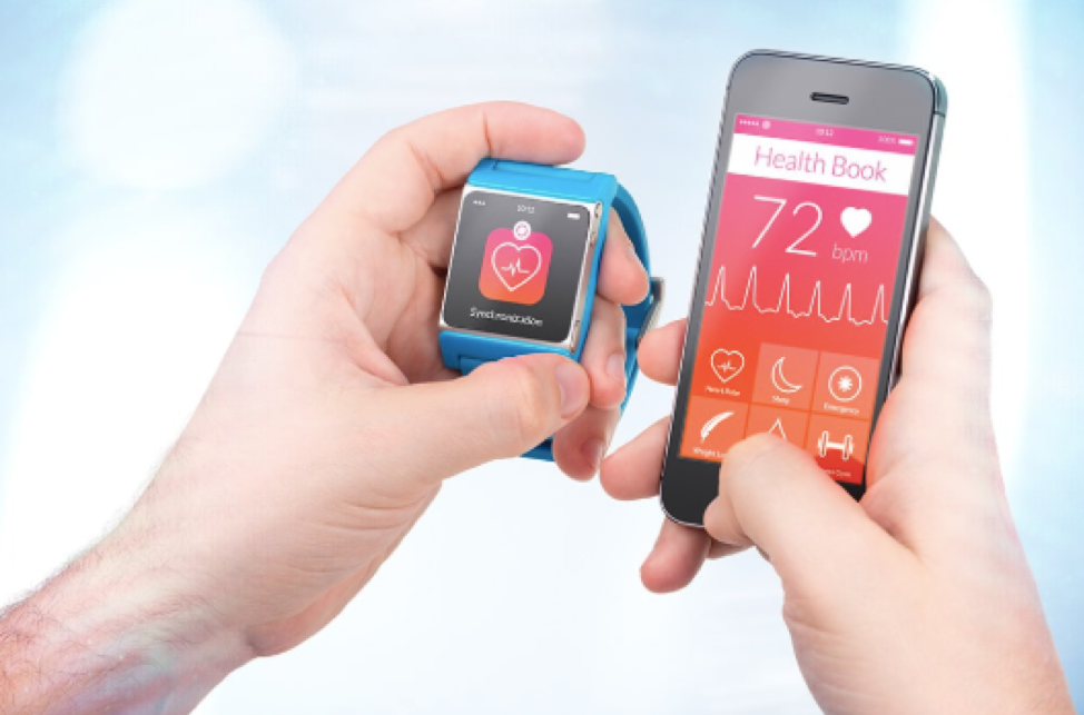 Smartwatch paired with Smartphone through IoT