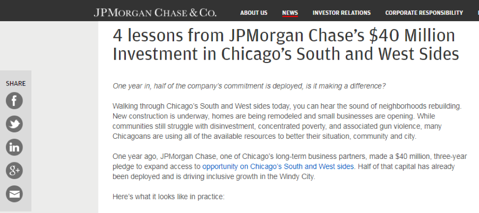 JPMorgan's blog uses effective introductions.