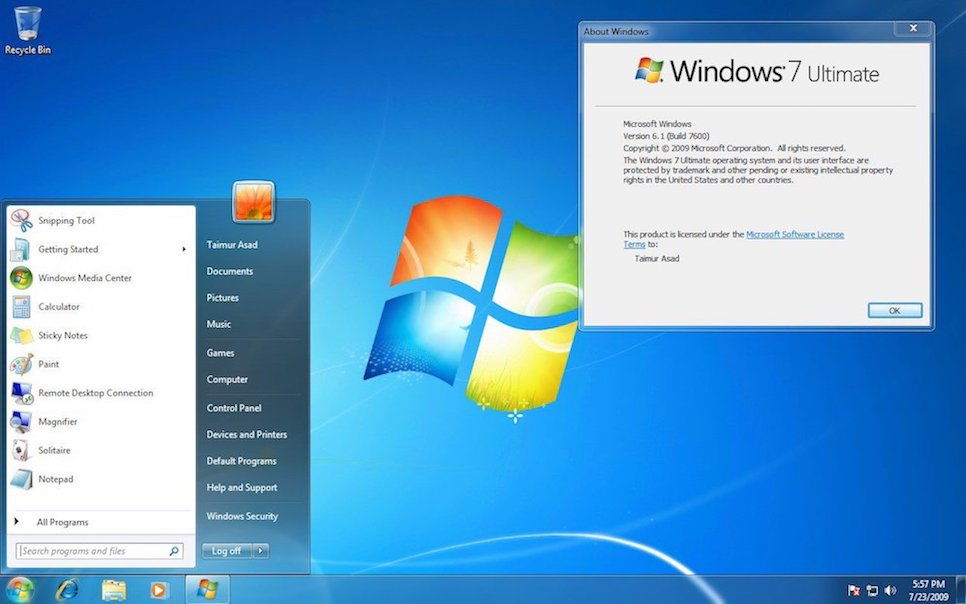 windows 7 design