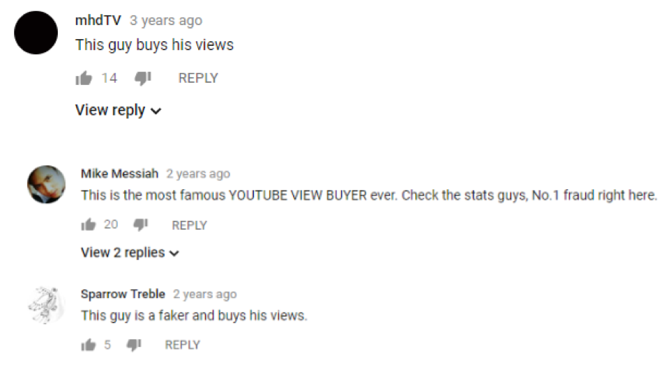 Fake YouTube views