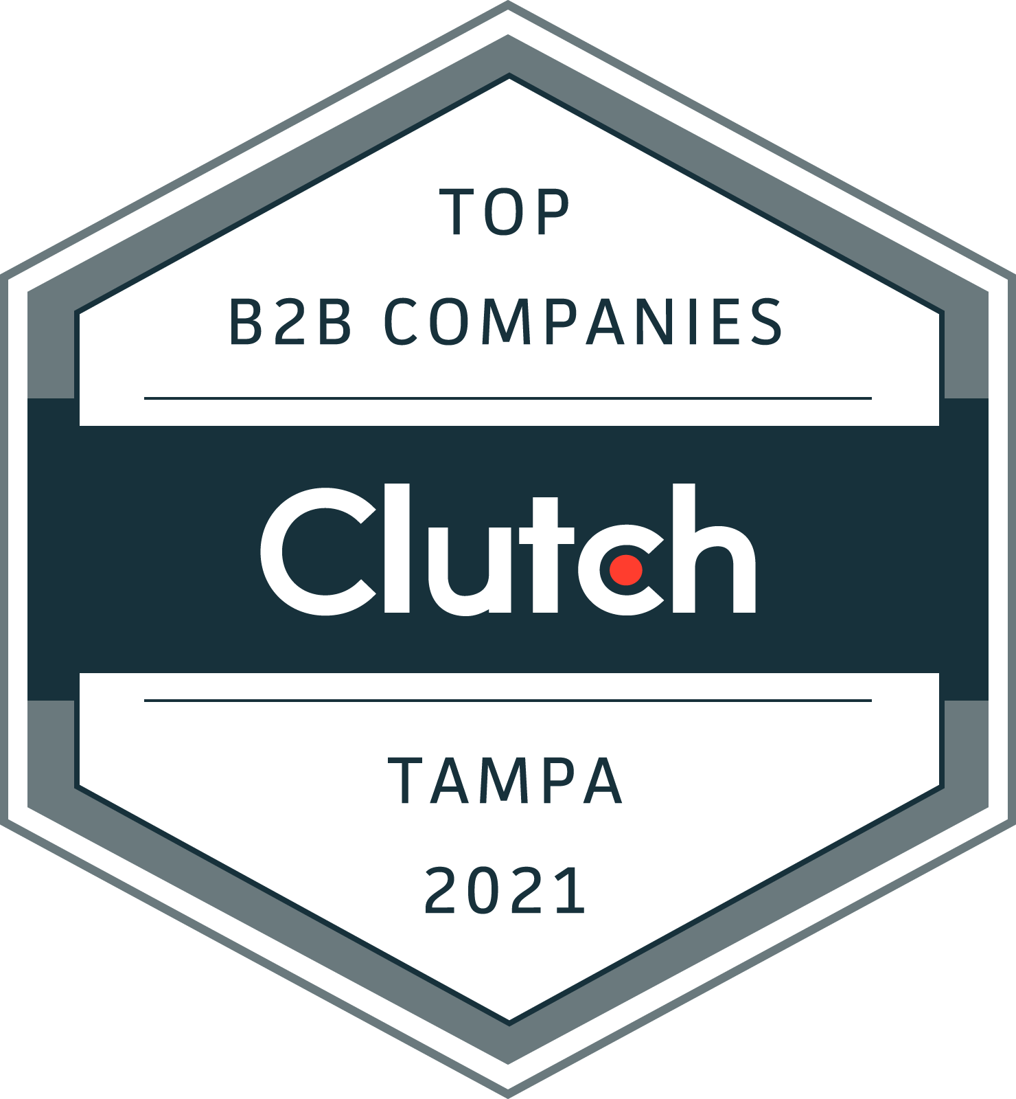 Clutch badge for Tampa's top B2B firms