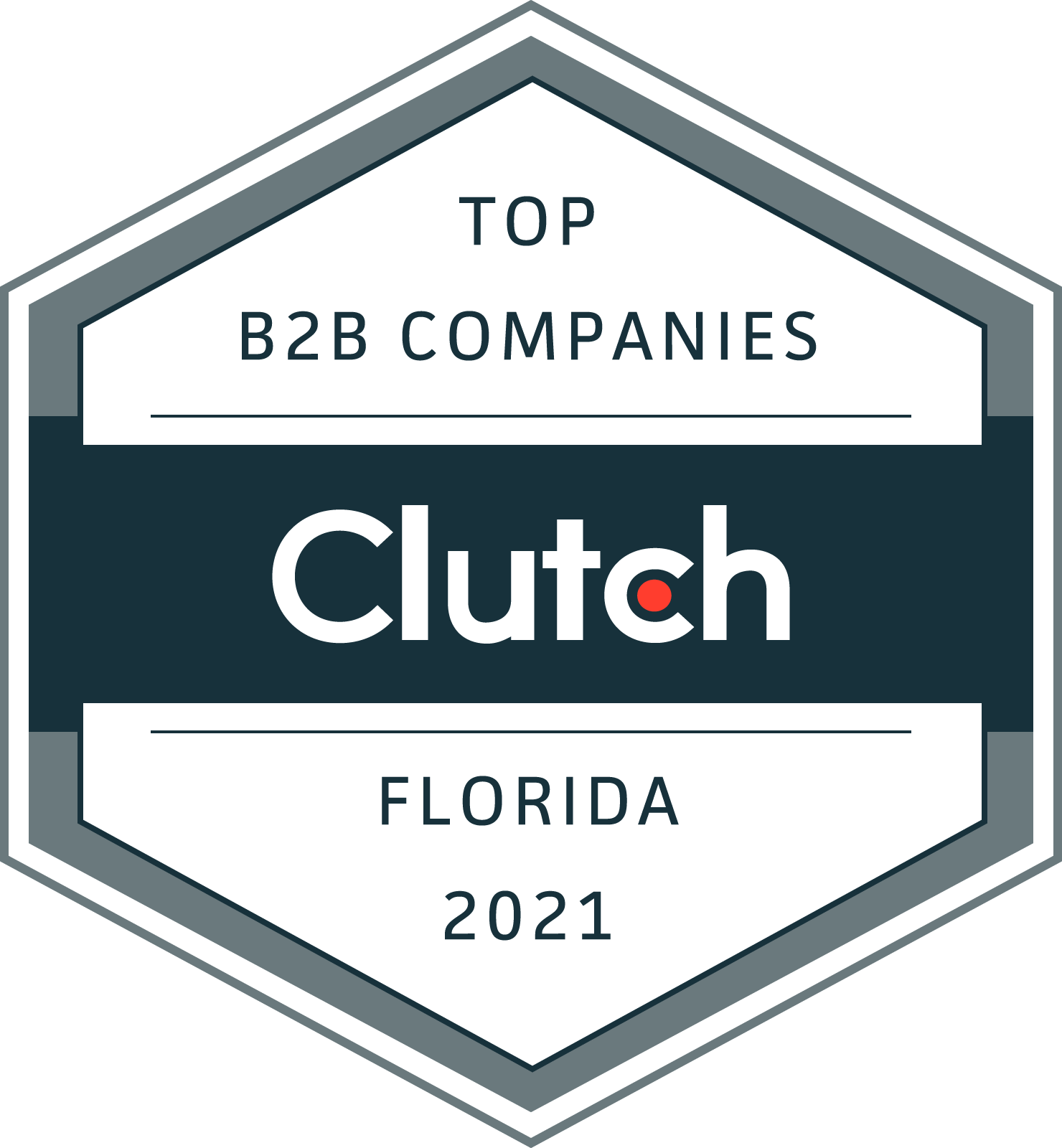 Clutch badge for Florida's top B2B firms