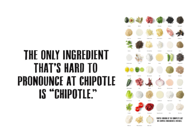 Chipotle released a campaign in response to food safety concerns to rebuild their reputation of serving fresh ingredients.