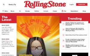 Rolling Stone Layout