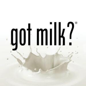 Got Milk Typographic Ad