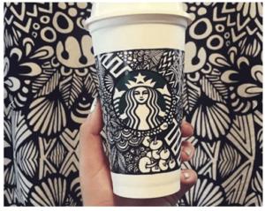 The winner of the Starbucks #WhiteCupContest