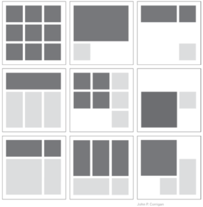 Layouts that create visual hierarchy