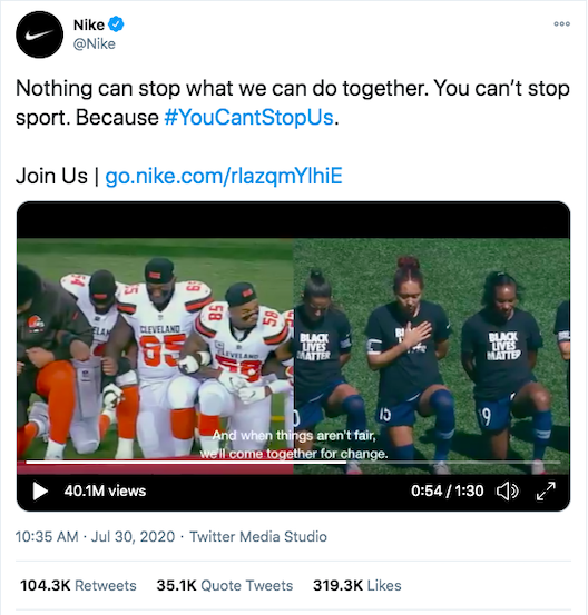 Nike's example of inclusive marketing