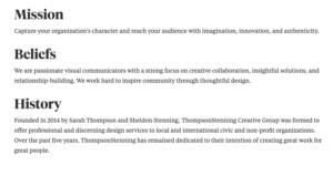 ThompsonStenning mission statement