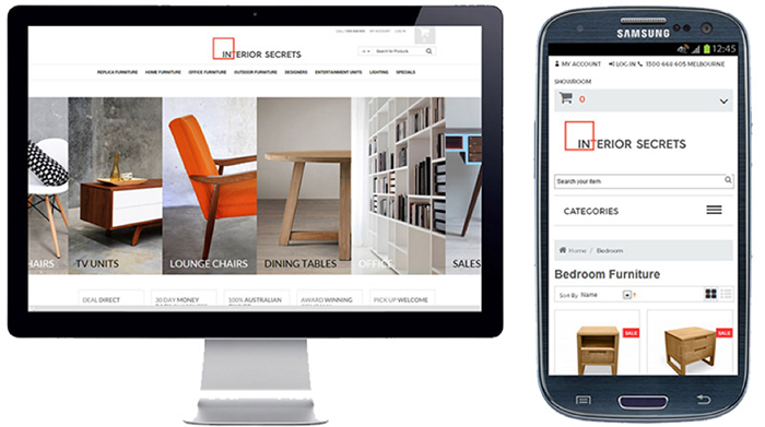 Interior Secrets website mobile optimization