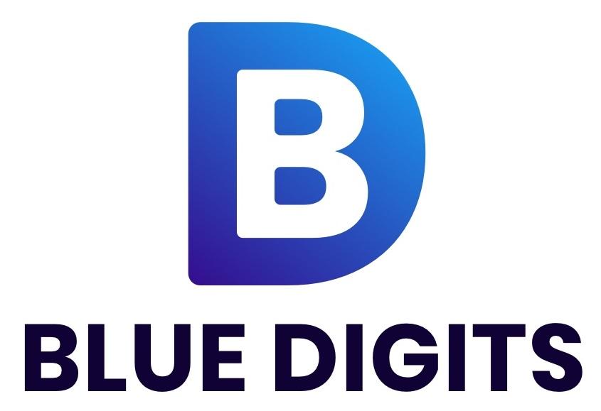 Blue Digits Logo