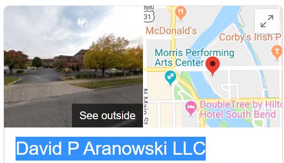 David P Aranowski LLC Logo