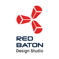 Red Baton Design Studio  Logo