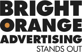 Bright Orange Advertising Logo