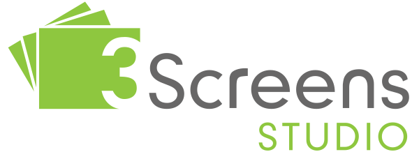 Three Screens Studio Logo