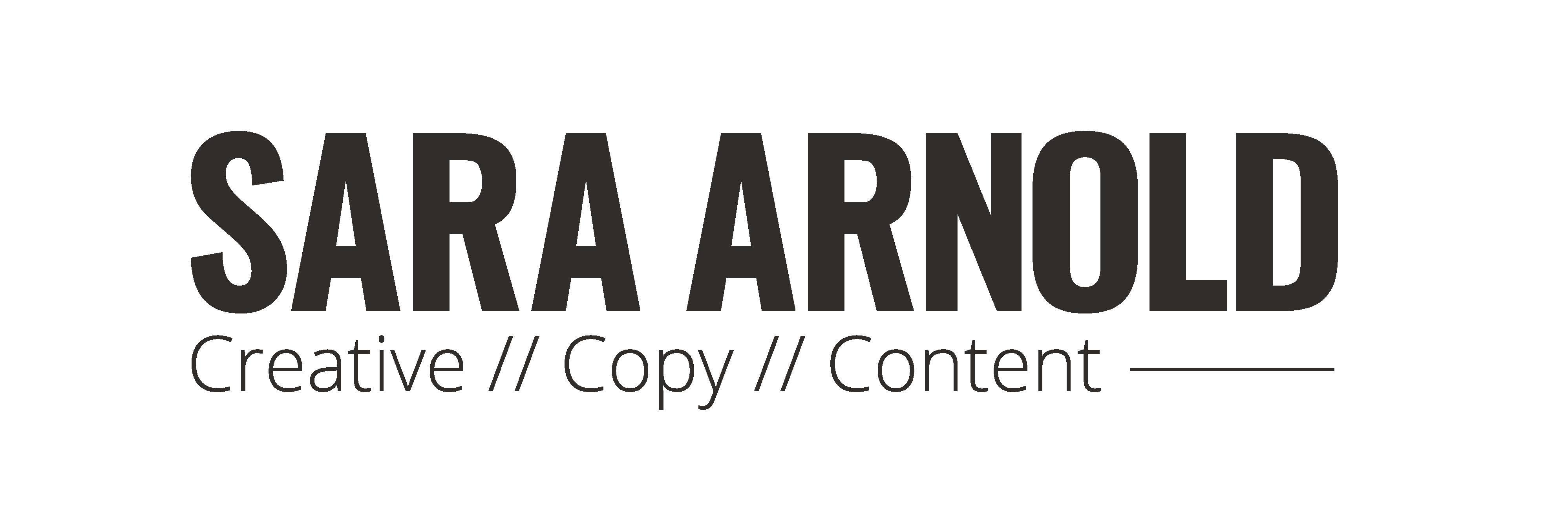 Sara Arnold Copywriting & Creative Logo