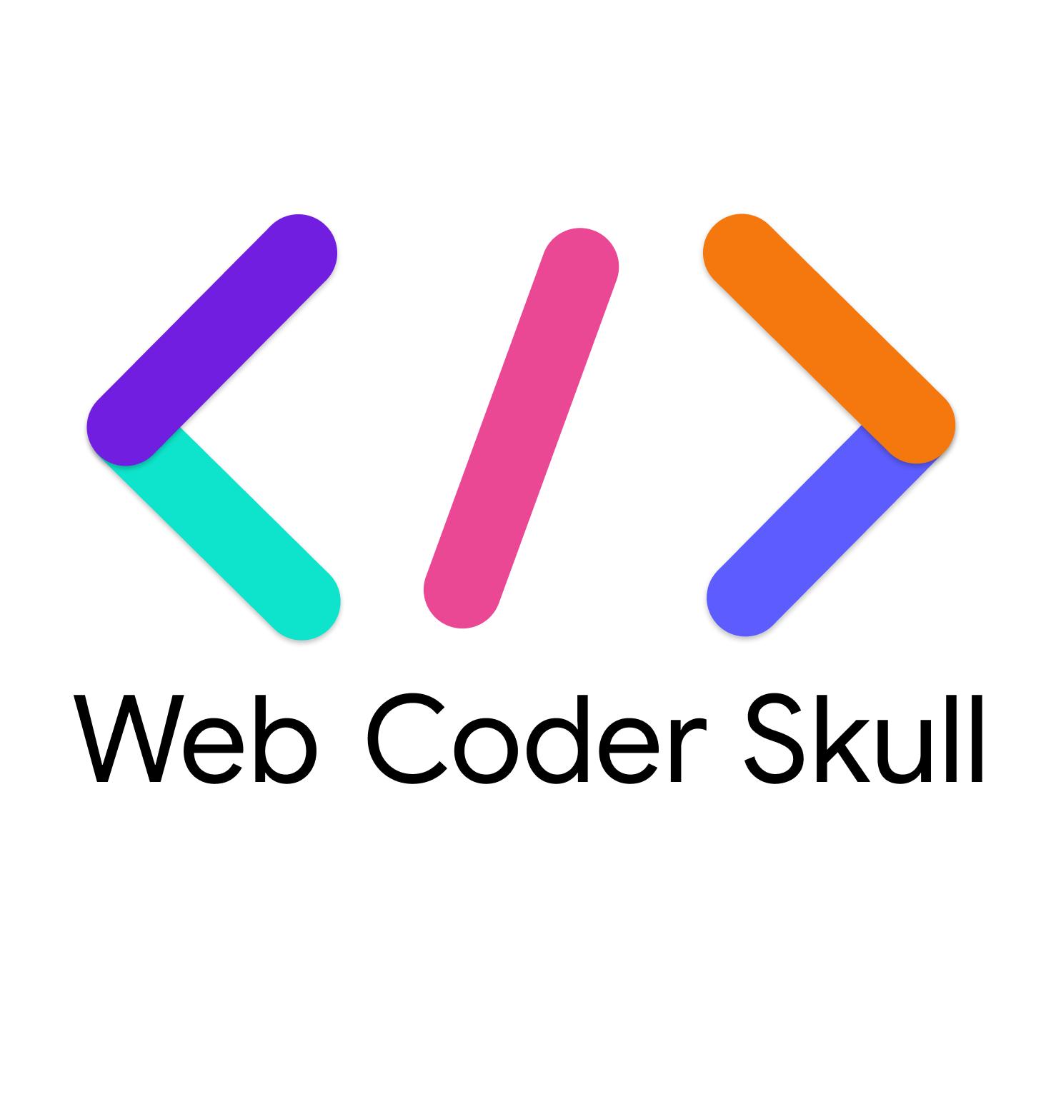Web Coder Skull Logo