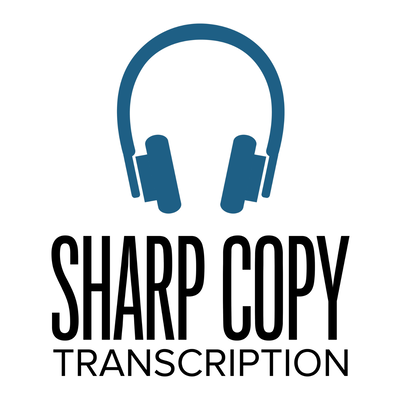 Sharp Copy Transcription Logo