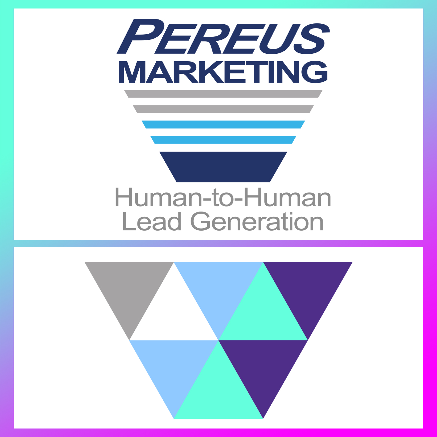 Superhuman Prospecting & Pereus Marketing Logo