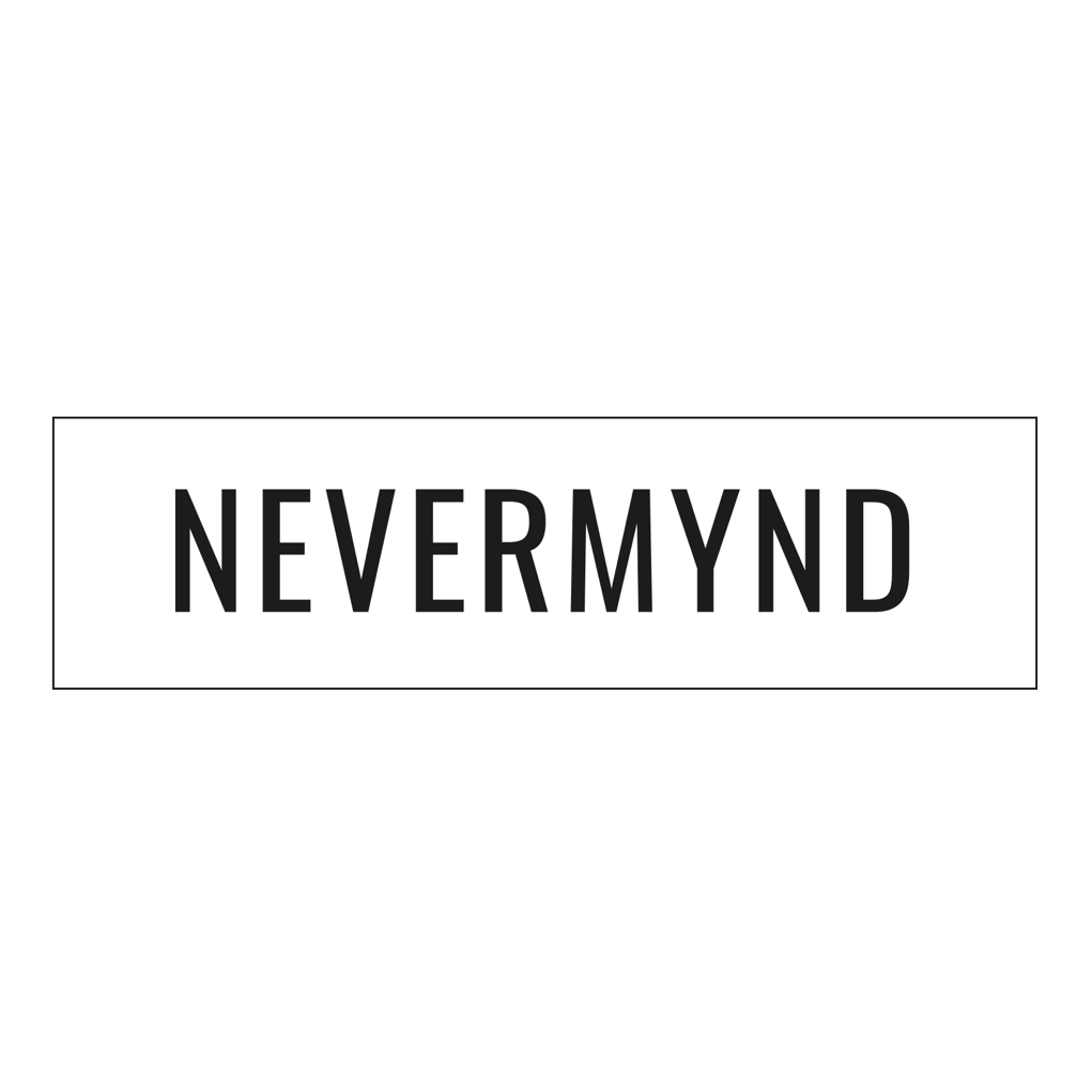 Nevermynd Logo
