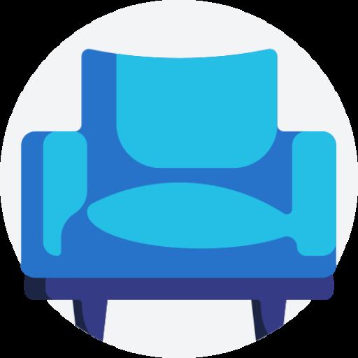 blue chair digital Logo