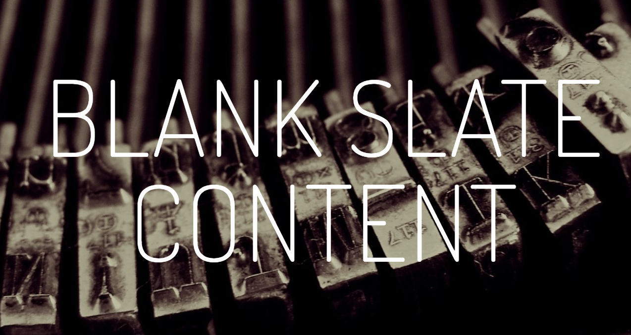 Blank Slate Content Logo